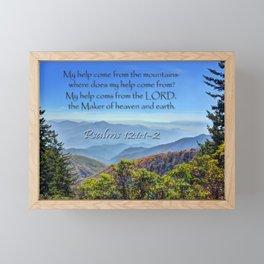 Psalms 121:1-2 Framed Mini Art Print