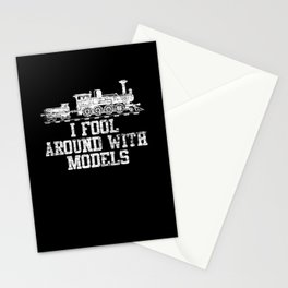 Model Train Play Stationery Cards