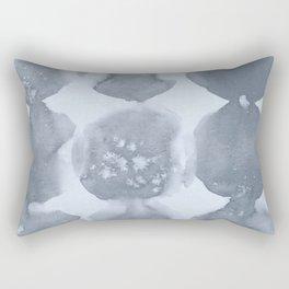 Shibori Wabi Sabi Indigo Blue on Sky Blue Rectangular Pillow