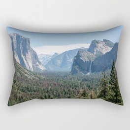 Tunnel view. the best way to see Yosemite. Rectangular Pillow