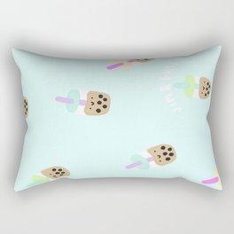 Blue Boba Milk Tea Rectangular Pillow