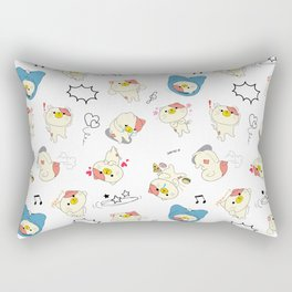 Cute Stuffed Cats Rectangular Pillow