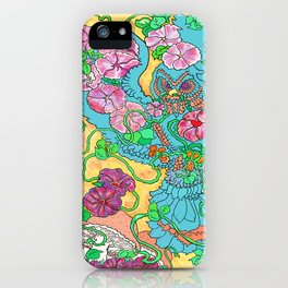 An Owl in Mourning Glory iPhone Case