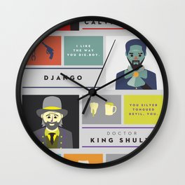 Django Unchained Character Poster Wall Clock