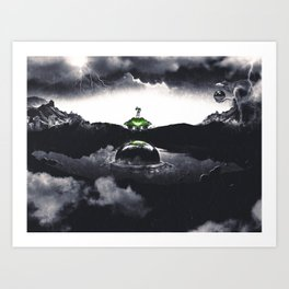 The Landing A Zebes Surrealism Art Print