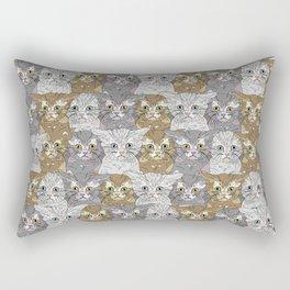 Kitties Galore Pattern Rectangular Pillow