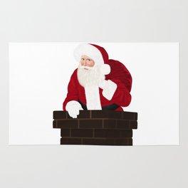 Santa Claus In Chimney Rug