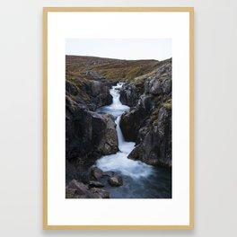 Gufufoss's waterfall Framed Art Print