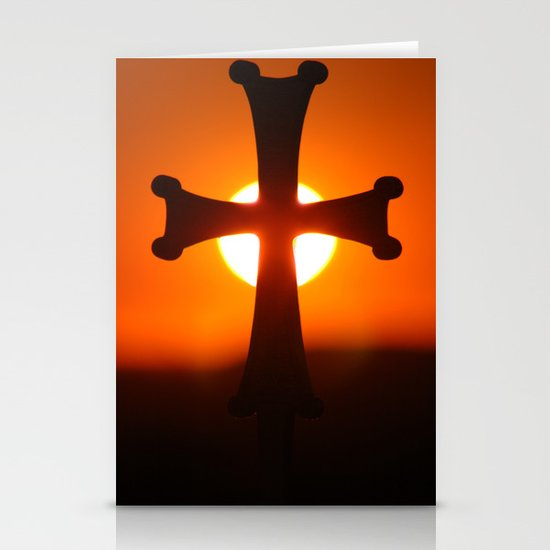 Sunset Cross Stationery Cards