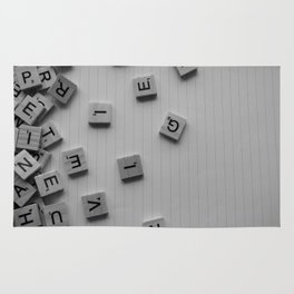 Scrabble letters Rug
