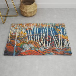 In The Northland (Group Of Seven) by Tom Thomson Canadian Landscape Art Rug