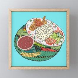 Tropical Dominican Lunch Platter Framed Mini Art Print