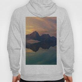 Fantasy mountain reflection Hoody