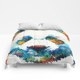 Colorful Panda Bear Art By Sharon Cummings Comforters