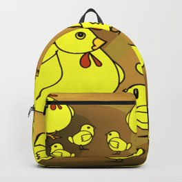 """""""Hens And Chicks"""" Backpack"""