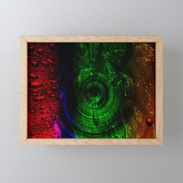 calmor viridi / Crying green Framed Mini Art Print