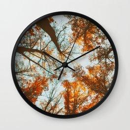 Vintage Woodland Sky Reach Wall Clock