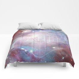 Faith - icosahedron Comforters
