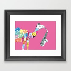 Pink-Camel Framed Art Print