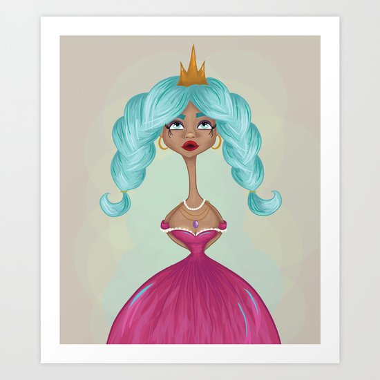Princess Whimsy  Art Print