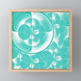 Light turquoise abstract Framed Mini Art Print
