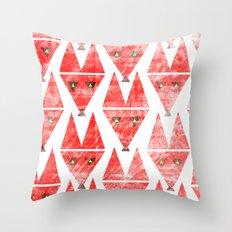 Foxy Pattern Throw Pillow