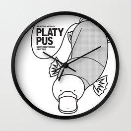 Platypus, Wildlife of Australia Wall Clock