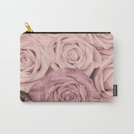 Some People Grumble - Pink Rose Pattern - Roses Carry-All Pouch