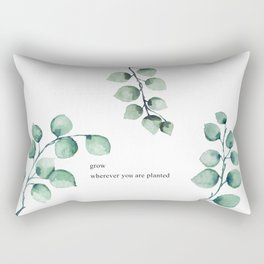 Grow wherever you are planted watercolor florals Rectangular Pillow