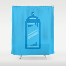 Tools of The Trade Series - Spray Can Shower Curtain