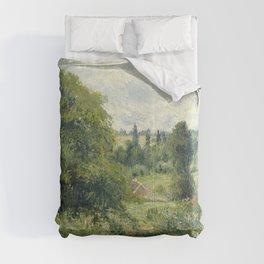 "Camille Pissarro ""Le grand noyer dans le pré, Éragny"" (""The big walnut in the meadow, Éragny"") Comforters"