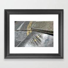 Road tree Framed Art Print