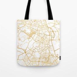 NEW DELHI INDIA CITY STREET MAP ART Tote Bag