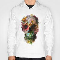 iphone 5 case Hoodies featuring SKULL 2 by Ali GULEC