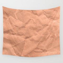 Kraft paper. crumpled paper Wall Tapestry