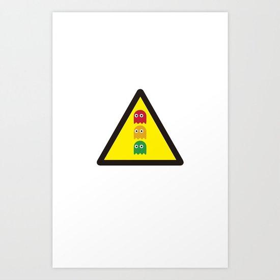 Warning ghosts Art Print