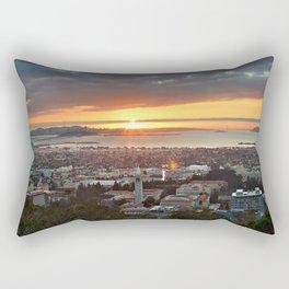 View of San Francisco Bay Area at Sunset from UC Berkeley Rectangular Pillow