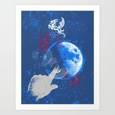 Winged Goat of the Cosmos Art Print