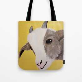 Original Painting - Farm Friends - Baby Goat Tote Bag