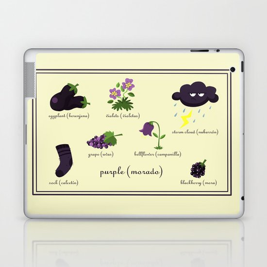 Colors: purple (Los colores: morado) Laptop & iPad Skin