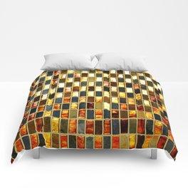 Black Gold Copper Tile Comforters