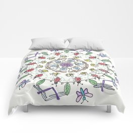 Garden Friends Mandala Comforters