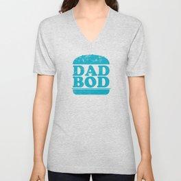 Dad loves burgers - dad bod Unisex V-Neck