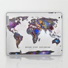 Star map. Never stop exploring... Laptop & iPad Skin