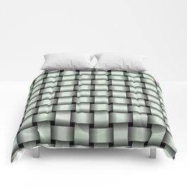 Pastel Green Weave Comforters