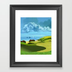A Hot Day's Boating Framed Art Print