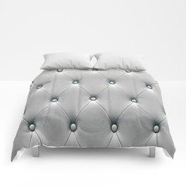 Silver Gray Fox Diamond Tufting Pattern Comforters