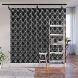 Halloween Damask Black Wall Mural