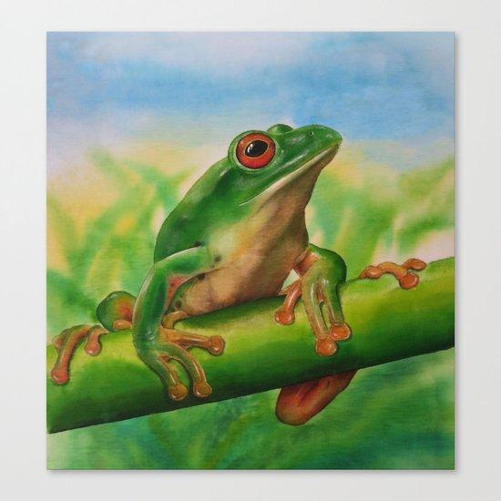 Green Treefrog Canvas Print