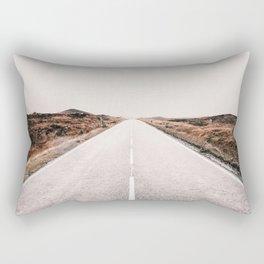 ROAD - HIGH WAY - LANDSCAPE - PHOTOGRAPHY - NATURE - ADVENTURE - SKY Rectangular Pillow